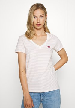 Levi's® - PERFECT V NECK - T-Shirt print - annalise/sepia rose