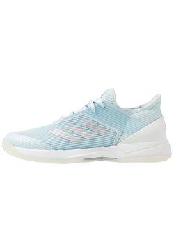 adidas Performance - ADIZERO UBERSONIC 3 - Multicourt Tennisschuh - sky tint/silver metallic/footwear white
