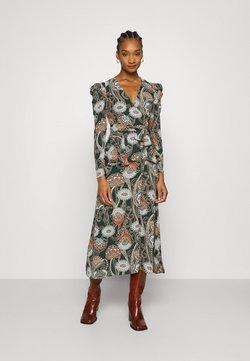 Who What Wear - BELTED PEPLUM DRESS - Maxi dress - liberation green