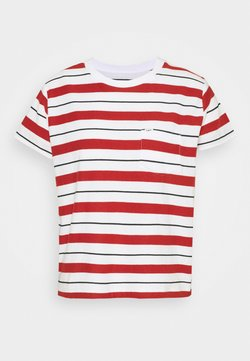 Lee - RELAXED POCKET TEE - T-Shirt print - red ochre