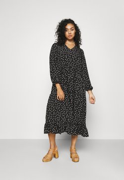 Glamorous Curve - TIERED DRESS - Sukienka letnia - black tulip
