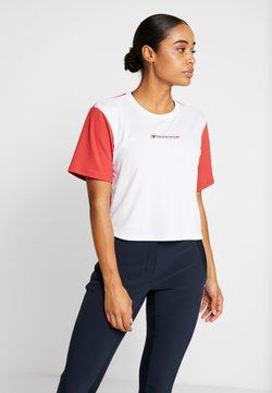 Tommy Hilfiger - BOXY SHORT SLEEVE - T-Shirt print - red