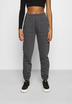 Nly by Nelly - COZY POCKET PANTS - Jogginghose - off-black