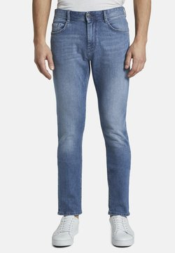 TOM TAILOR - JEANSHOSEN JOSH REGULAR SLIM JEANS - Jeans Slim Fit - light stone wash denim