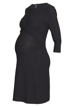 New Look Maternity - LESS TWIST FRONT BODYCON - Trikoomekko - black