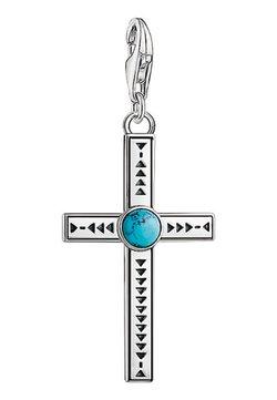 THOMAS SABO - ETHNO KREUZ  - Anhänger - silver/turquoise