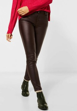 Street One - Pantalon en cuir - rot