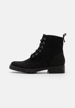 Superdry - COMMANDO BOOT - Bottines à lacets - black