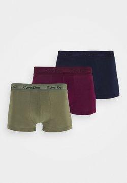 Calvin Klein Underwear - LOW RISE TRUNK 3 PACK - Shorty - lost blue/wild fern/raisin torte