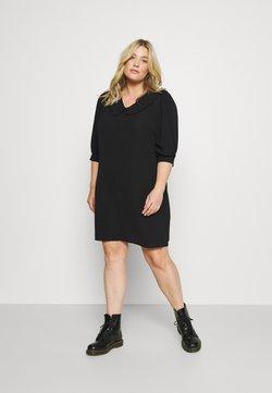 ONLY Carmakoma - CARNOVA 3/4 KIM TUNIC DRESS - Sukienka letnia - black