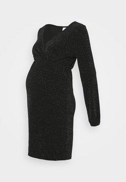 MAMALICIOUS - MLJENNI TESS DRESS  - Sukienka z dżerseju - black/silver glitter