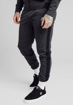 SIKSILK - TONAL CHECK CUFFED PANTS - Stoffhose - grey
