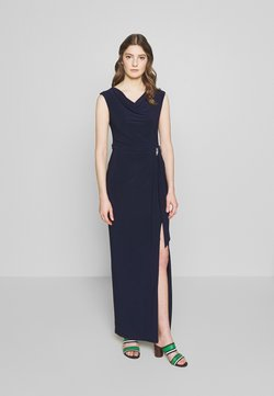 Lauren Ralph Lauren - CLASSIC LONG GOWN TRIM - Maxi-jurk - lighthouse navy