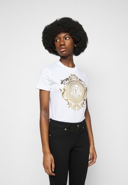 Versace Jeans Couture - T-Shirt print - optical white/gold