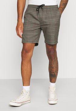 Brave Soul - Shorts - black/grey/red check