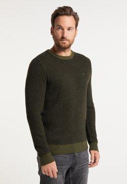 DreiMaster - Stickad tröja - militär grün schwarz