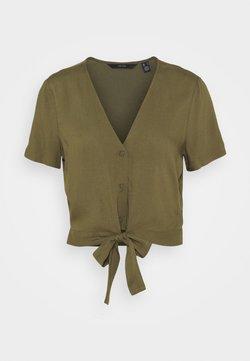 Vero Moda - VMSIMPLY EASY TIE  - T-shirt con stampa - ivy green