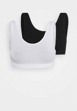 Cotton On Body - SEAMFREECROP BRALETTE 2 PACK - Bustier - black/white
