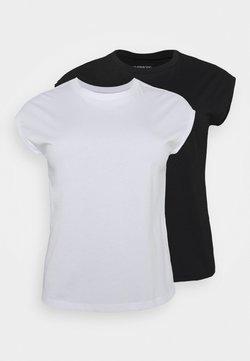 Even&Odd - 2ER PACK - T-shirt basic - black/white