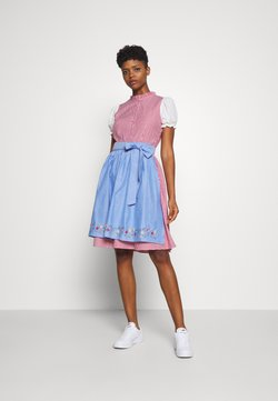 ONLY - ONLELLY CHECK  DRESS - Dirndl - cloud dancer/red