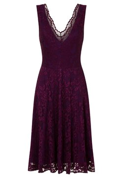 HotSquash - FLORAL  - Cocktailkleid/festliches Kleid - dark purple