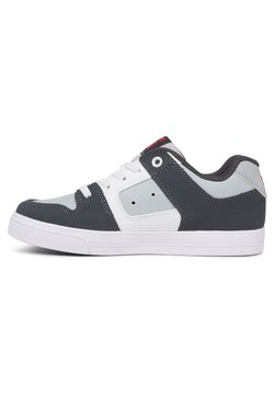 DC Shoes - PURE ELASTIC - Sneakers laag - grey/grey/red