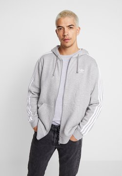 adidas Originals - 3-STRIPES  - Sweatjacke - medium grey heather