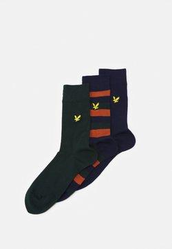 Lyle & Scott - CALUM 3 PACK - Socken - peacoat/bombay brown/pine grove