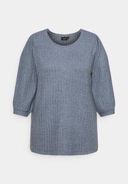 Zizzi - ELULLI BLOUSE - Pullover - vintage indigo melange