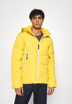 TOM TAILOR DENIM - HEAVY PUFFER JACKET - Winterjacke - lemon juice yellow