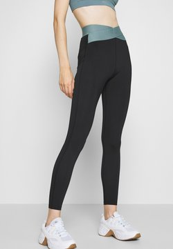 Even&Odd active - HIGH WAIST BANDED LEGGING - Tights - black