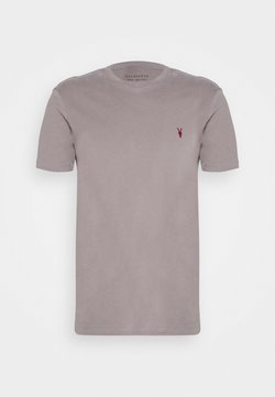 AllSaints - BRACE CONTRAST CREW - Print T-shirt - gargoyle grey