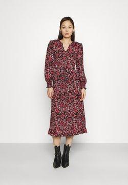 ONLY - ONLPELLA MIDI DRESS  - Day dress - black/shore flowers pink
