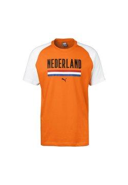 Puma - T-Shirt print - vibrant orange/white