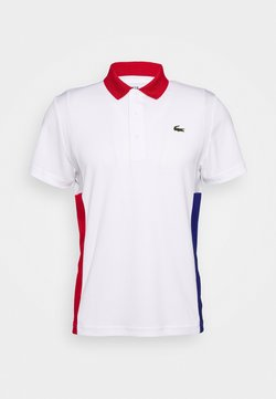 Lacoste Sport - TENINS  - Poloshirt - white/red/cosmic black