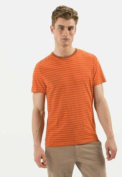 camel active - KURZARM - T-Shirt print - orange