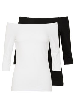 Even&Odd Tall - 2 PACK  - Langarmshirt - white/black