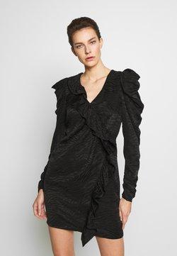 DESIGNERS REMIX - RUBY RUFFLE DRESS - Vestito elegante - black
