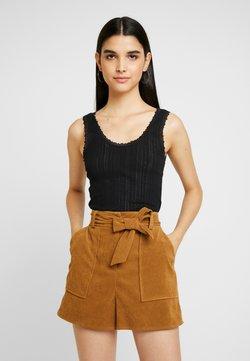 BDG Urban Outfitters - POINTELLE TANK - Débardeur - black