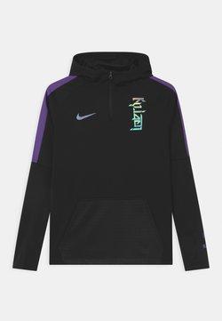 Nike Performance - KYLIAN MBAPPE HOODIE UNISEX - Funktionströja - black/fierce purple