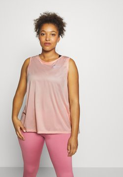 Nike Performance - MILER TANK PLUS - Funktionsshirt - washed coral/reflective silver