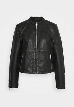 Selected Femme - SLFIBI JACKET - Leren jas - black