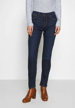 Marc O'Polo - DENIM TROUSER MID WAIST SLIM LEG REGULAR LENGTH - Jeans slim fit - dark blue base wash