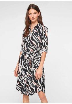 s.Oliver - Korte jurk - black zebra aop