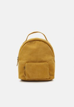 Even&Odd - LEATHER - Tagesrucksack - mustard yellow