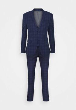 Isaac Dewhirst - CHECK SUIT - Anzug - blue