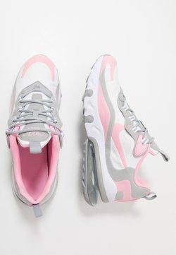 Nike Sportswear - AIR MAX 270 REACT - Sneaker low - white/pink/light smoke grey/metallic silver