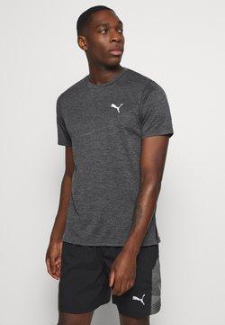Puma - RUN FAVORITE TEE - Camiseta estampada - dark gray heather