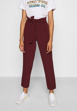 ONLY - ONLCAROLINA MAIA BELT PANT - Spodnie materiałowe - port royale