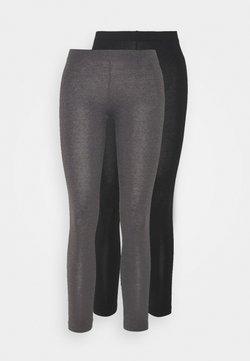 Even&Odd Tall - 2 PACK - Legging - black/mottled dark grey